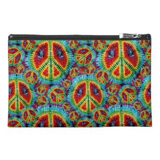 Retro Tie Dye Peace Signs Bagettes Bag Travel Accessory Bag
