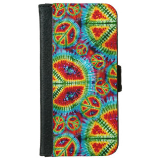Retro Tie Dye Peace Signs iPhone 6/6s Wallet Case