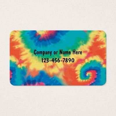 tie dye business cards
