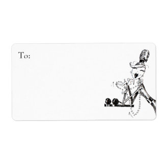 Retro Tiffanys inspired art Labels