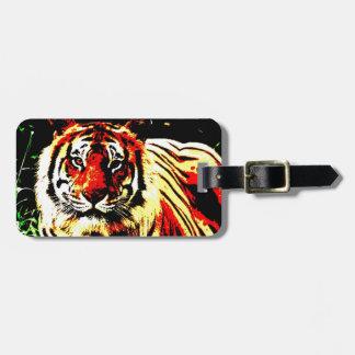 Retro Tiger Luggage Tag