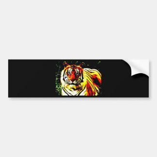 Retro Tiger Pop Art Bumper Sticker