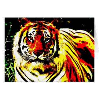 Retro Tiger Pop Art Card