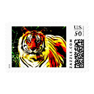 Retro Tiger Pop Art Postage