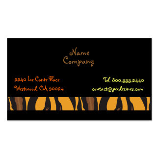 Retro Tiger Skin pattern profile cards Business Card Templates