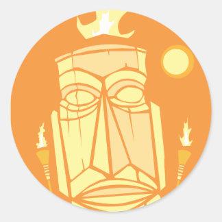 Retro Tiki #1 Classic Round Sticker