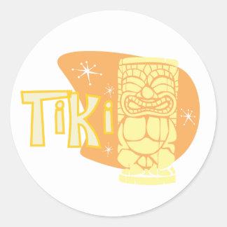Retro Tiki #9 Classic Round Sticker
