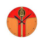 Retro Tiki Surfboard Clocks