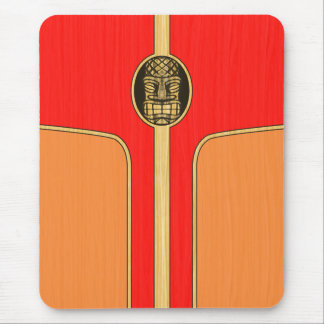Retro Tiki Surfboard Mousepad
