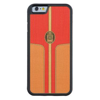 Retro Tiki Surfboard Carved® Maple iPhone 6 Bumper