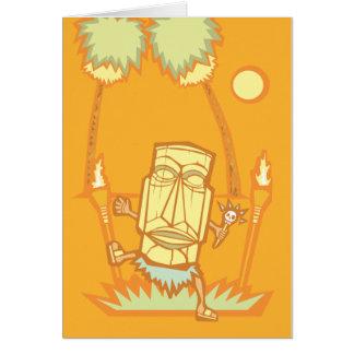 Retro tiki Witchdoctor Card