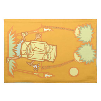 Retro Tiki Witchdoctor Placemat