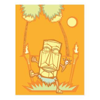 Retro tiki Witchdoctor Postcard