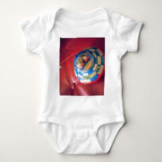 Retro Tin Flying Saucer Baby Bodysuit