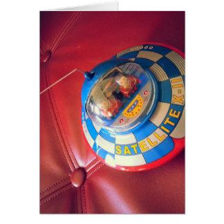 Retro Tin Flying Saucer Card