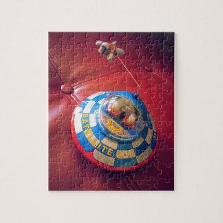 Retro Tin Flying Saucer Jigsaw Puzzle