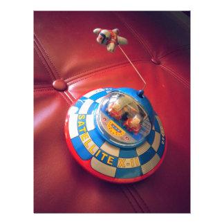 Retro Tin Flying Saucer Letterhead