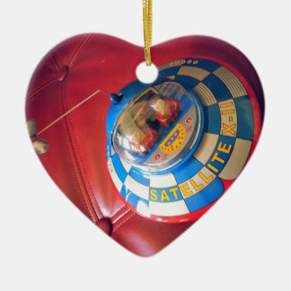 Retro Tin Flying Saucer Ornaments