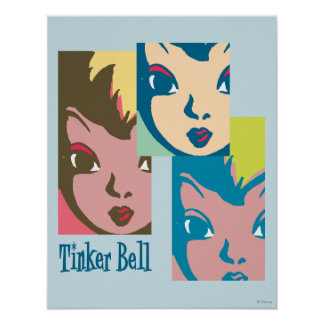 Retro Tinker Bell 1 Posters