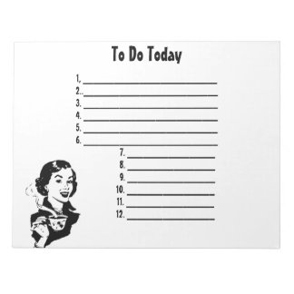 Retro To Do List Notepad