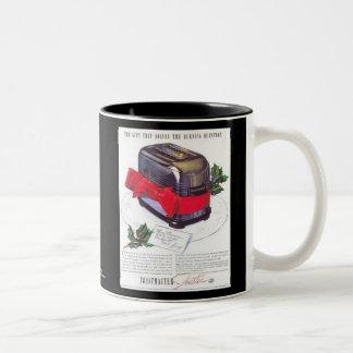 Retro Toaster Ad Two-Tone Coffee Mug