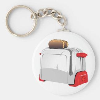 Retro Toaster Basic Round Button Keychain