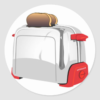 Retro Toaster Classic Round Sticker