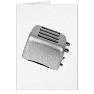 Retro Toaster - Light Grey B&W Card