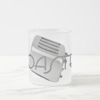 Retro Toaster - Toasted Grey B&W Frosted Glass Coffee Mug