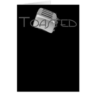 Retro Toaster - Toasted Grey B&W Greeting Card