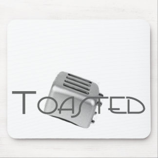 Retro Toaster - Toasted Grey B&W Mouse Pad