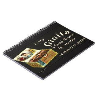 Retro Tobacco Ad 1870 Notebook