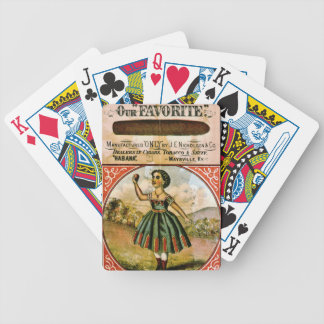 Retro Tobacco Label 1868 c Bicycle Playing Cards