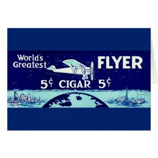 Retro Tobacco Label 1930 Card