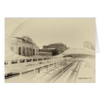 Retro Tone Look For Union Station, Denver, CO Card