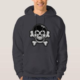 Retro Toon Monkey Pirate Skull Hoodie