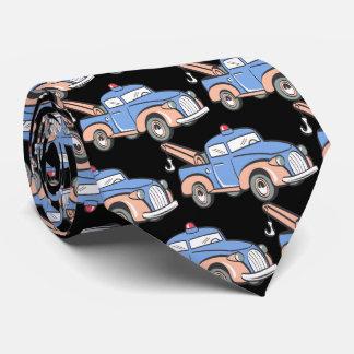 Retro Tow Truck Pattern Tie