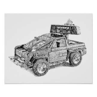 Retro toy 4X4/Assault Vehicle Poster