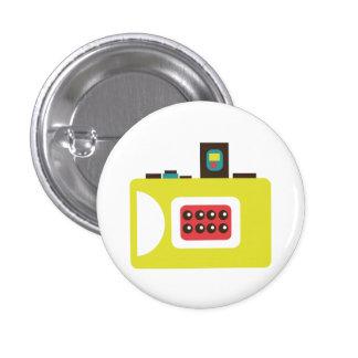 Retro Toy Camera (Yellow) Flair Button