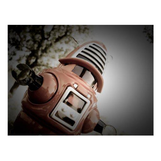 Retro Toy Robby Robot 02 Postcard