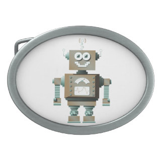 Retro Toy Robot Belt Buckle (lt)