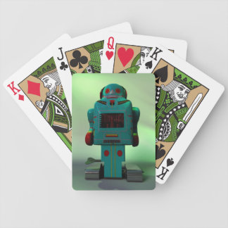 Retro Toy Robot Bicycle Playing Cards