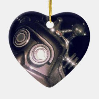 Retro Toy Robot Ceramic Ornament