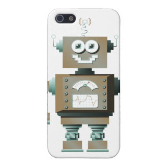 Retro Toy Robot iPhone Case (lt)