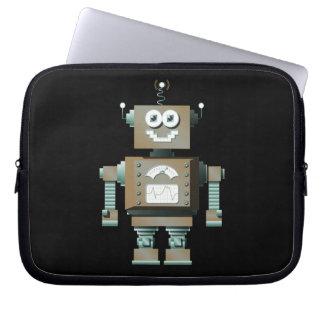 Retro Toy Robot Laptop Sleeve (dk)