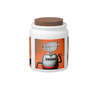 Retro Toy Robot Lineup 01 Candy Jar