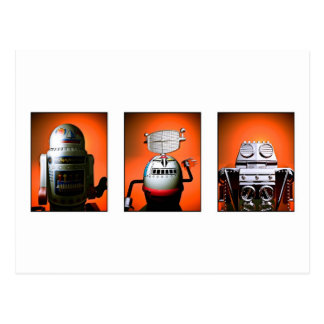Retro Toy Robot Lineup 01 Postcard