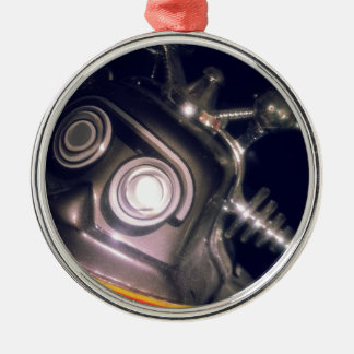 Retro Toy Robot Metal Ornament