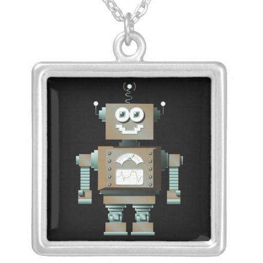 Retro Toy Robot Necklace (dk)