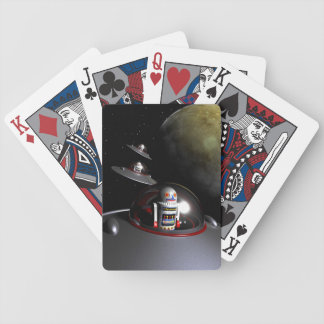 Retro Toy Robot Number 7 Bicycle Playing Cards